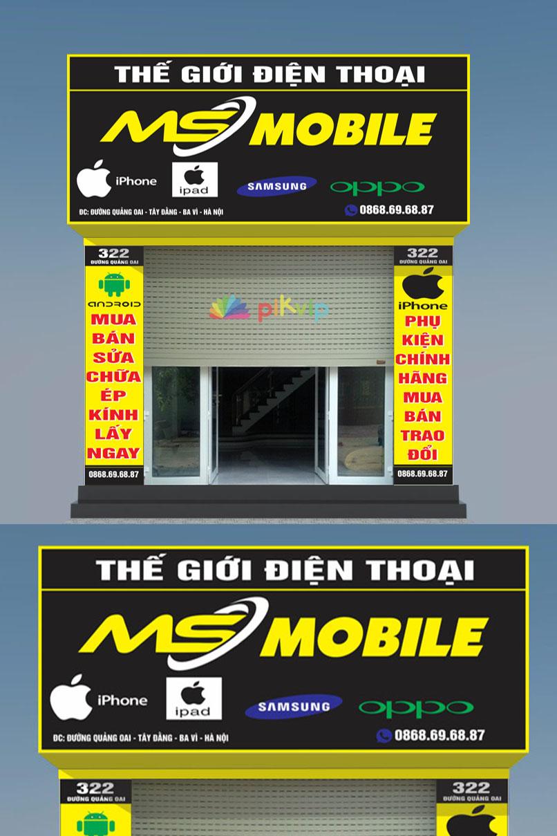 Mẫu biển bảng quảng cáo tiệm điện thoại ms