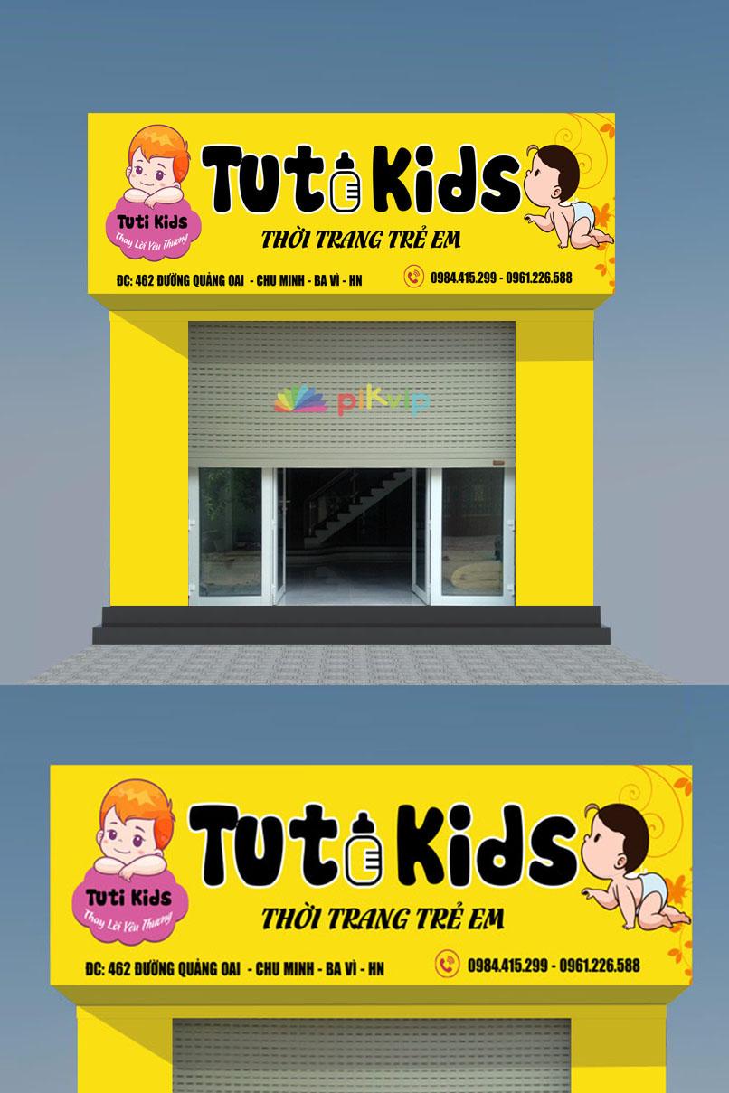Mẫu biển quảng cáo thời trang trẻ em
