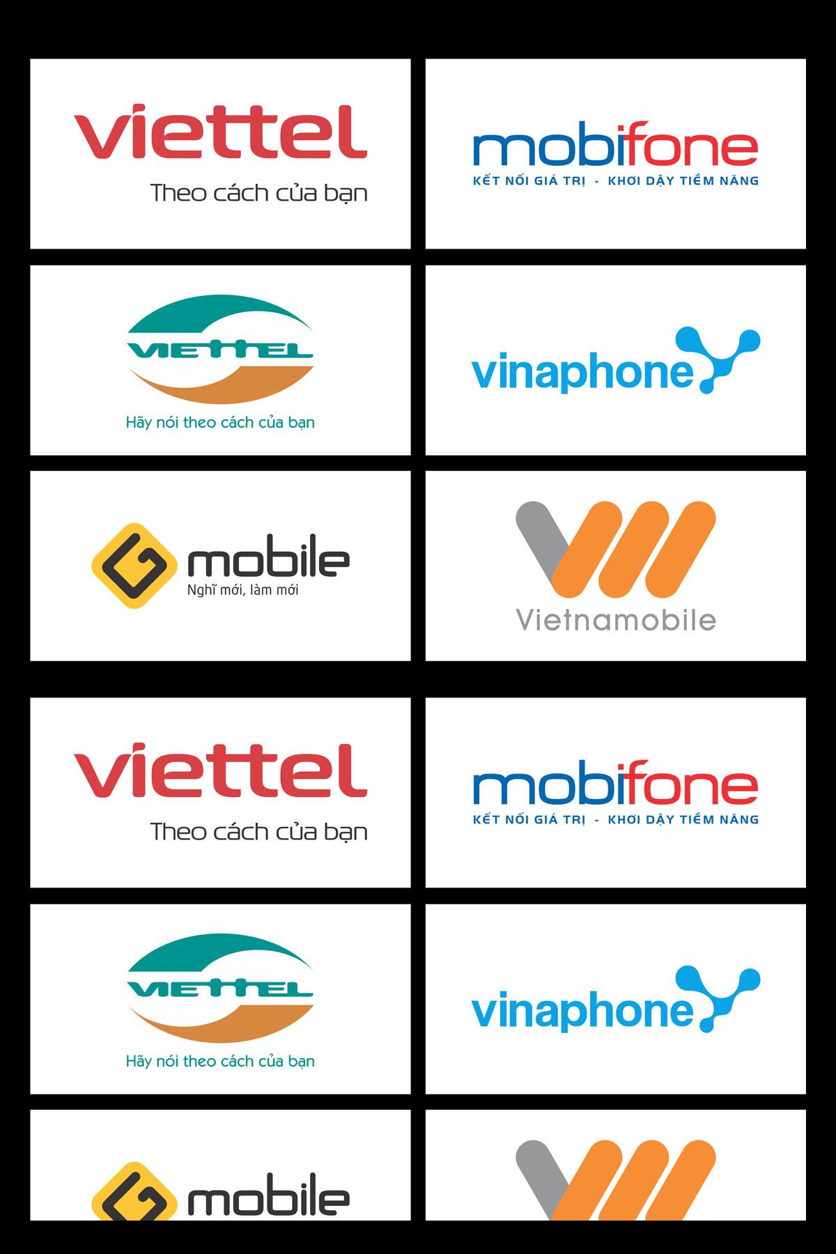 Tổng hợp logo 5 hãng di động tại việt nam file cdr