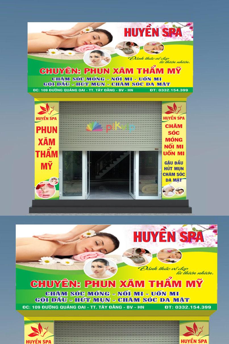 Bộ market biển bảng spa