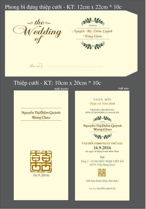 mẫu Thiệp cưới thiết kế in offset