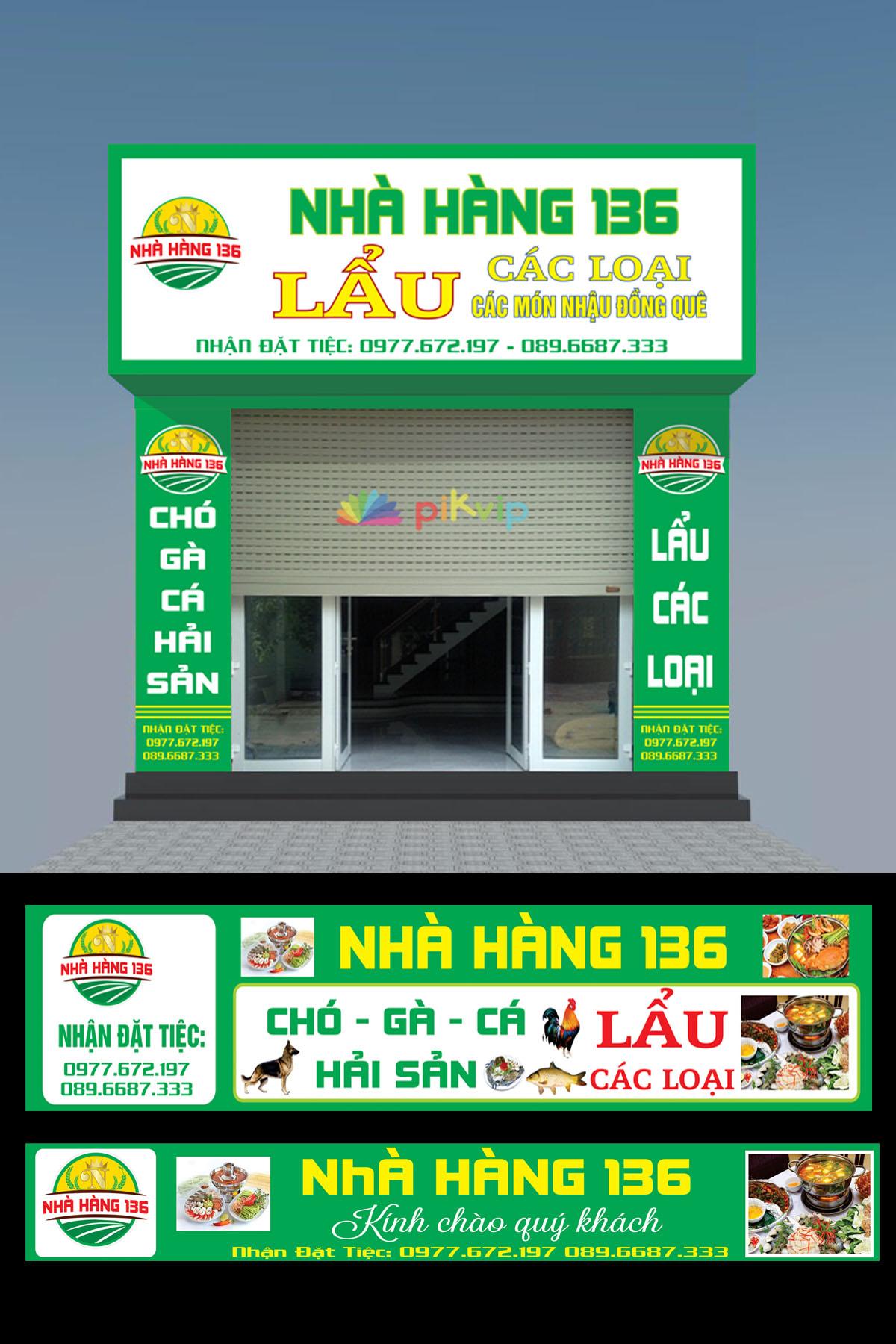 Mẫu market biển quảng cáo nhà hàng 136