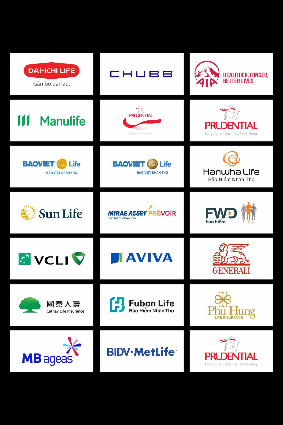 Tổng hợp logo 18 hãng bảo hiễm tại việt nam file cdr