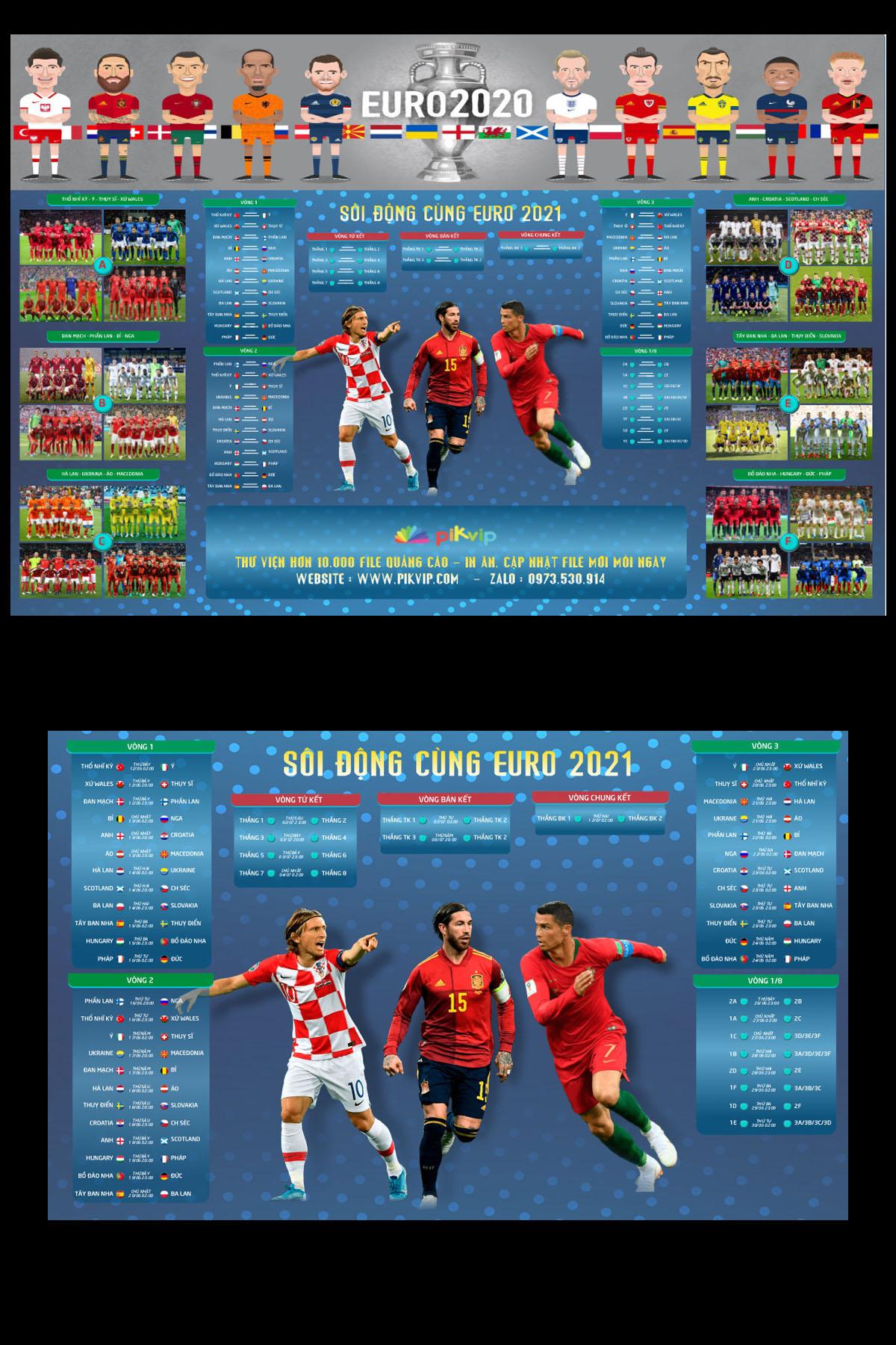 Mẫu lịch chung kết euro 2021